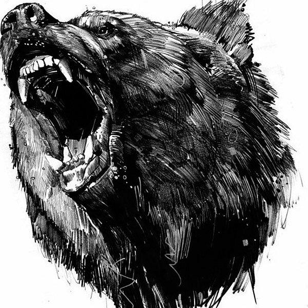 тату медведь эскизы фото